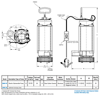 AMT 5890-DC Submersible Pump Drawing