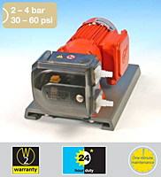 521F Fixed Speed, 521V Variable Speed, or <br>521P Pneumatic Speed 30 - 60 psi Pumps with <br>520REMC Loadsure element Pump Head