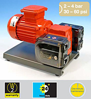 Product Image  - 521FD Fixed Speed, 521VD Variable Speed, or <br>521PD Pneumatic Speed 30-60 psi Duplex Pumps <br>with 520REMC Loadsure element Pump Head
